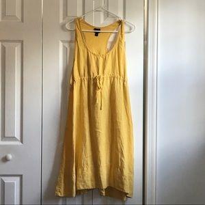 Eileen Fisher yellow linen dress size medium
